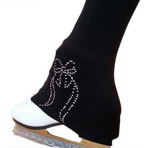 0102c6ef82c85 Victoria's Challenge Rhinestone Bow Warm Up Troucers Skating Pants VCSP39