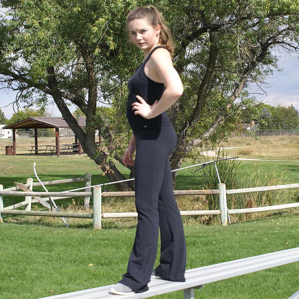 Victoria S Challenge Tall Women Tummy Control Slimming Shaping Black Flare Yoga Pants Vc8f 4 Victoria S Challenge